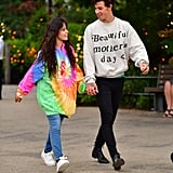 Camila Cabello and Shawn Mendes walking in Brooklyn on August 9, 2019