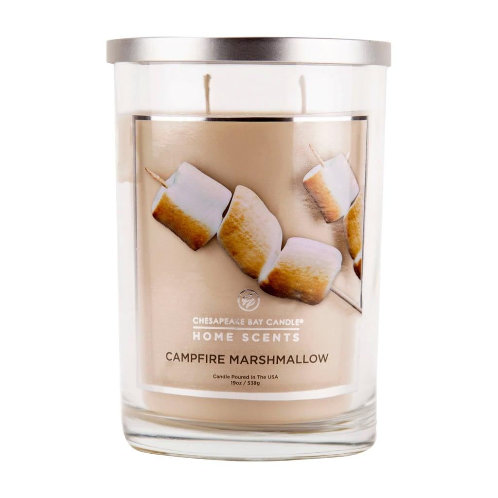 Campfire Marshmallow Glass Jar Candle