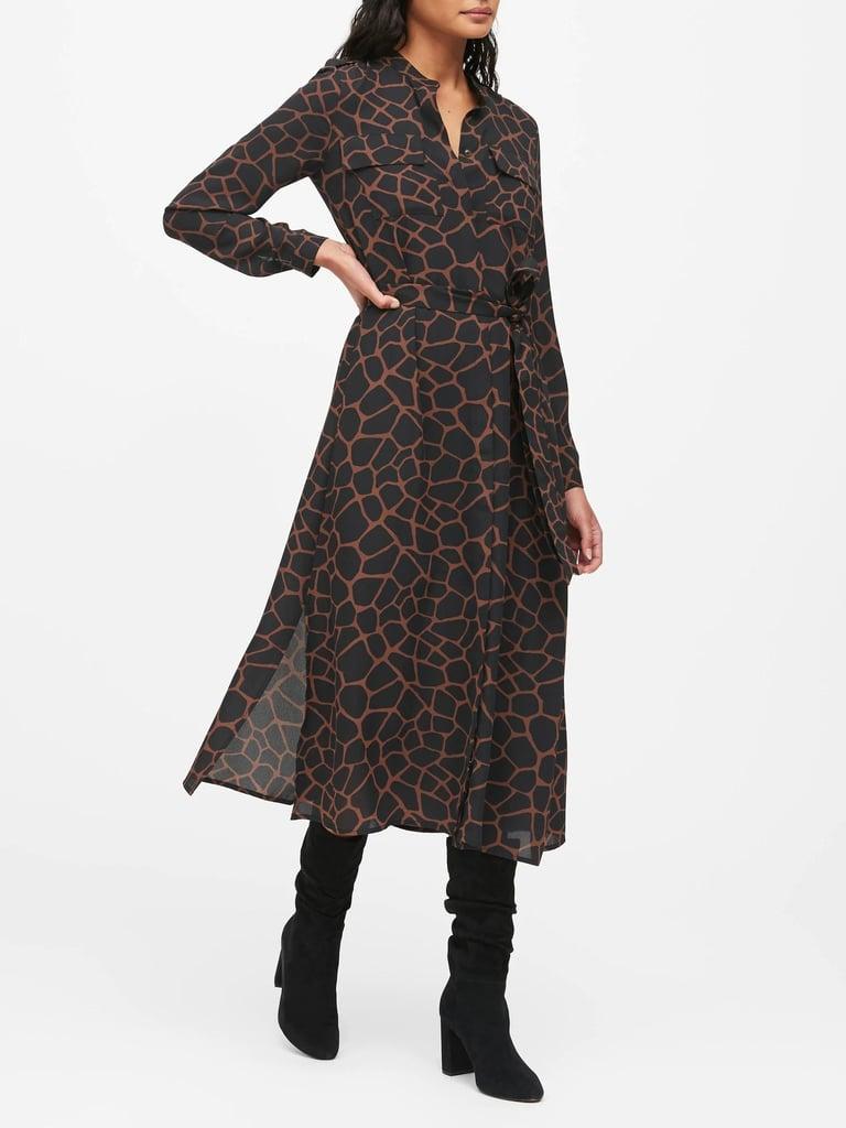 Print Maxi Shirt Dress | Best Dresses From Banana Republic ...