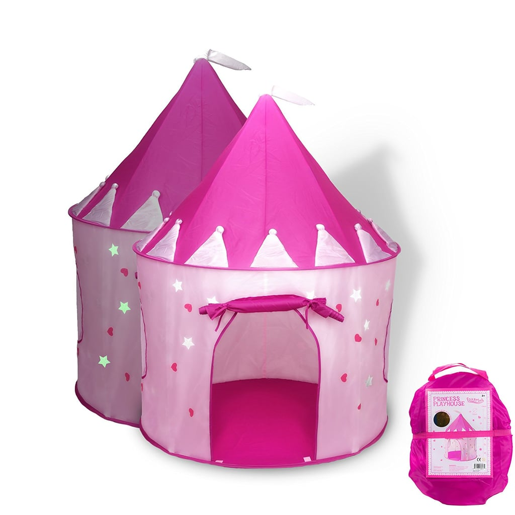 For 4-Year-Olds: Fox Print Princess Castle Play Tent with Glow in the Dark Stars