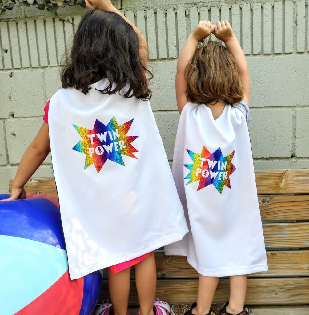 superhero capes for twins | twin halloween costumes | popsugar