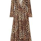 We Are Leone Leopard-Print Silk-Chiffon Robe