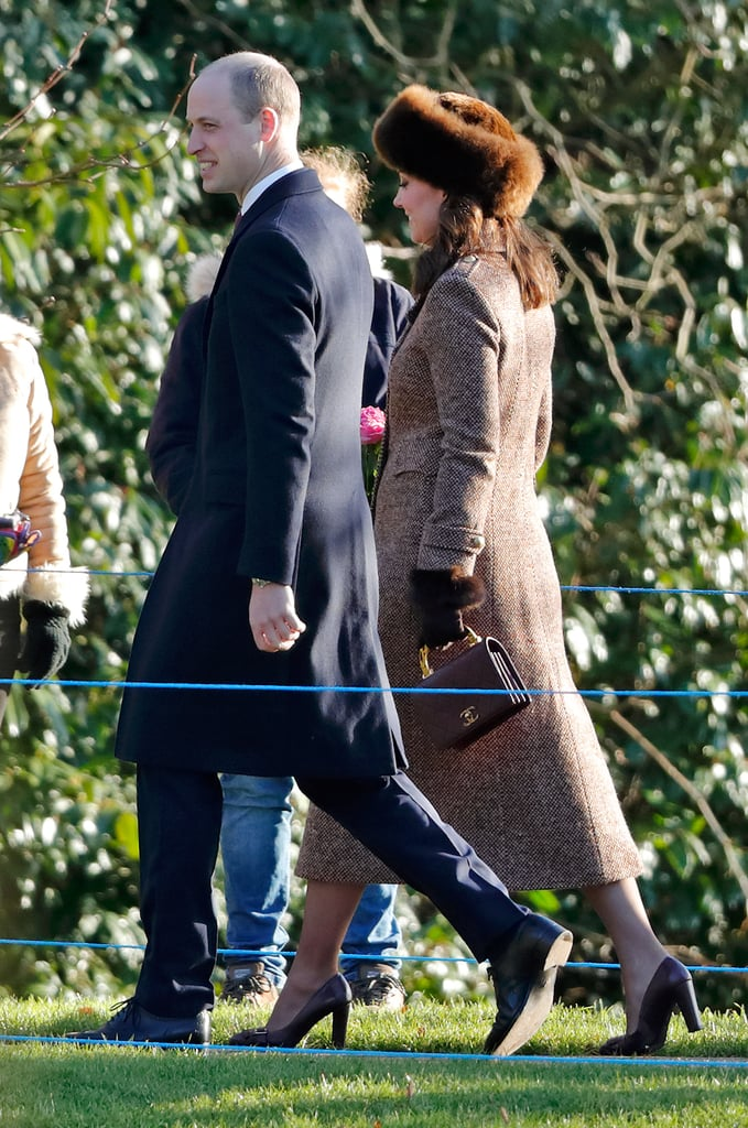 Kate Middleton Carrying Burgundy Chanel Purse