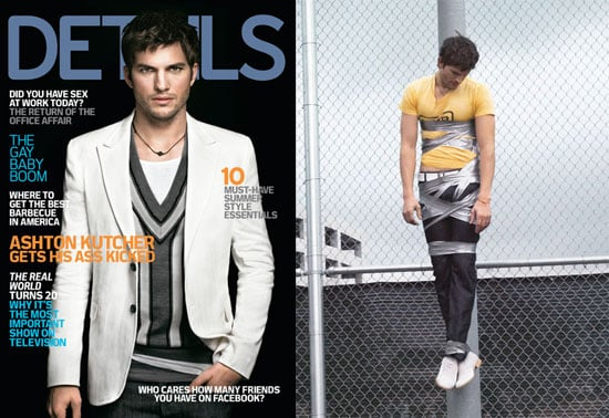 Ashton Kutcher on the May 2008 Cover of Details Magazine