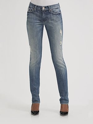 Fab Celebrates Spring With Saks: Win a Pair of Distressed 7 For All Mankind Roxanne Jeans!