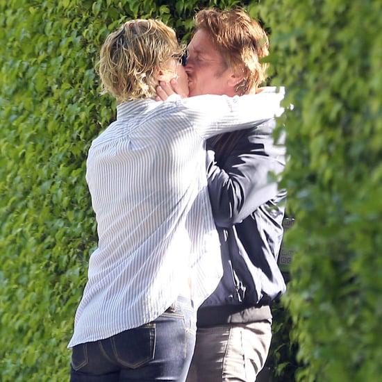 Charlize Theron Kissing Sean Penn