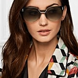 Prada Cat-eye Acetate And Silver-tone Sunglasses