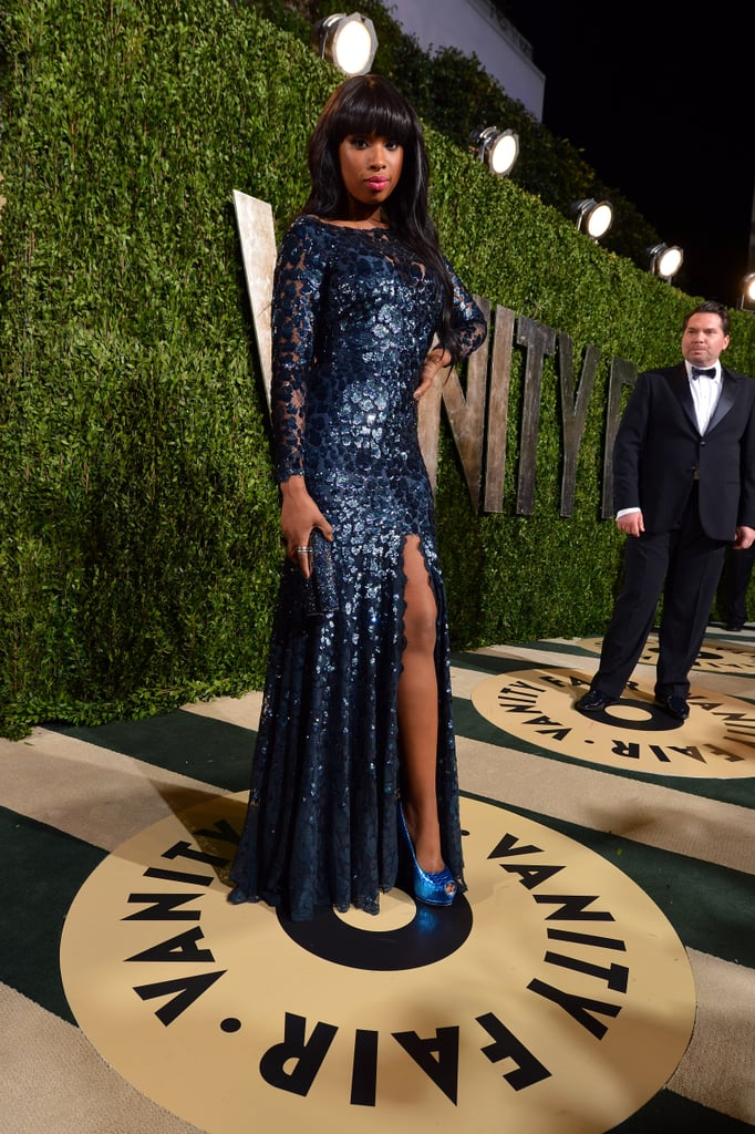 Jennifer Hudson arrived at the Vanity Fair Oscar party on Sunday night.