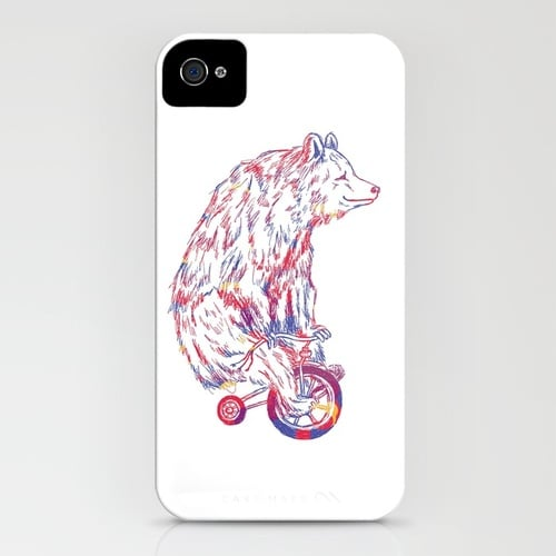 Society6 Bear on Bicycle ($35)