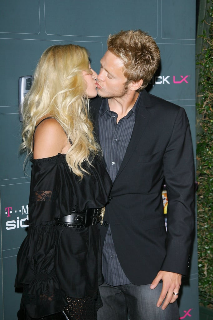 Heidi Montag and Spencer Pratt kissed for the cameras at a Hollywood event in May 2009.