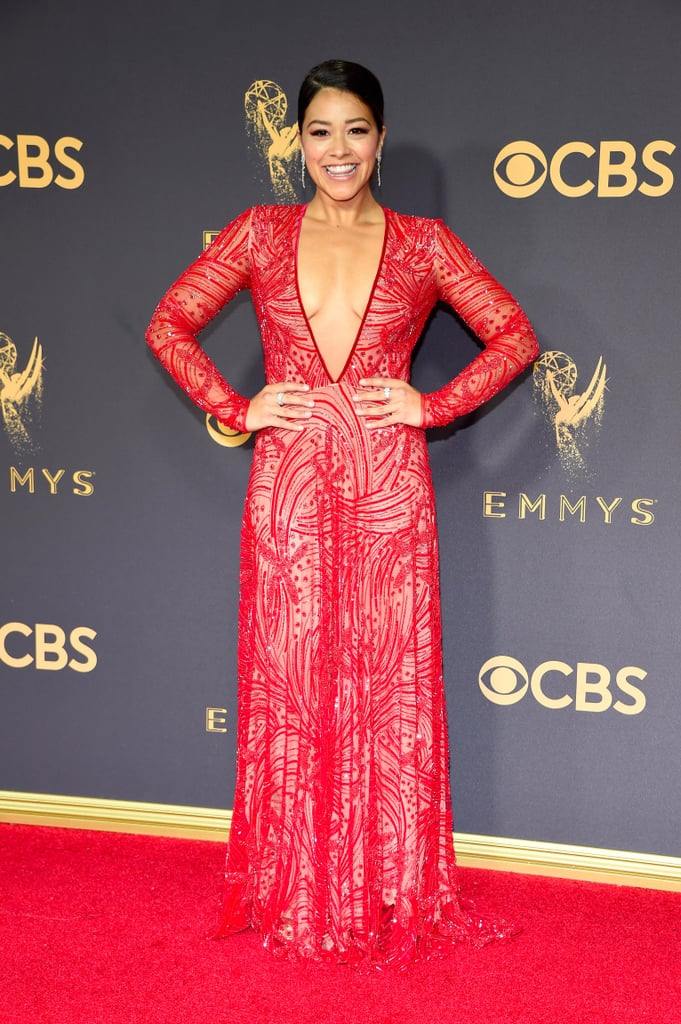 Gina Rodriguez Naeem Khan Emmys Dress 2017 | POPSUGAR Fashion