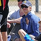 Reese Witherspoon and Jim Toth watched Deacon's game in LA in May 2010.
