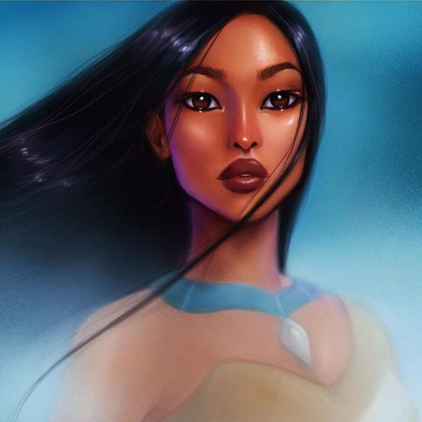 Realistic Disney Princess Illustrations Popsugar Love Sex