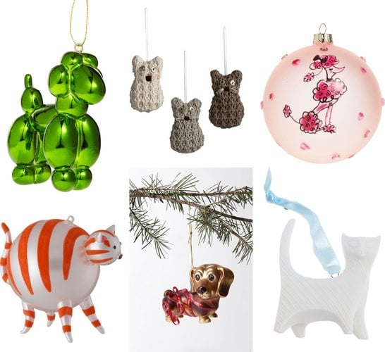 dog and cat christmas ornaments for pet lovers - Cat Christmas Decorations