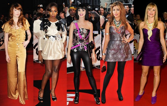Photos of 2009 Brit Awards Worst Dressed Including Florence Welch, Estelle, Katy Perry, Gabriella Cilmi, Amanda Holden