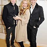 Tom made a ginger sandwich with Eddie Redmayne and Cat Deeley.