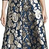 Oscar de la Renta Foil-Floral V-Neck Dress ($3,190)