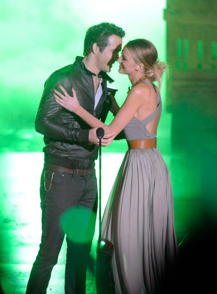 Blake Lively Touching Ryan Reynolds's Chest Photos