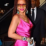 Rihanna With Red Box Braids