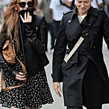 Isla Fisher and Naomi Watts had lunch at the Bowery Hotel in NYC.