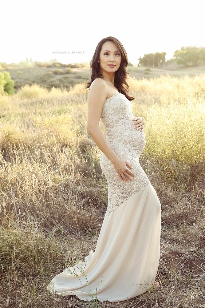 Maternity wedding dresses popsugar moms for Pregnancy dress for wedding