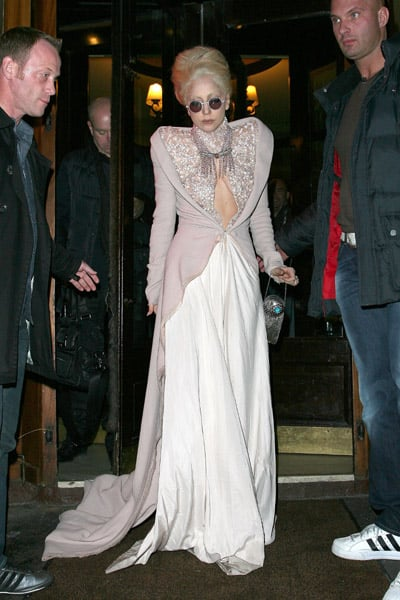 Gaga looking regal as ever stepping out of a Paris restaurant.