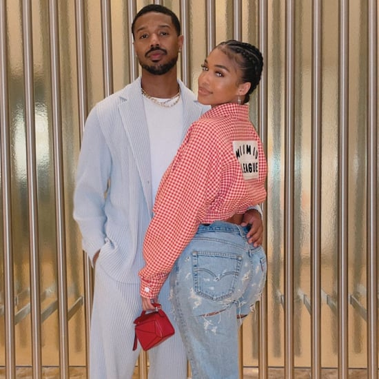Lori Harvey Wears Miu Miu With Michael B. Jordan in Vegas