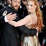 With Jessica Chastain at the Lawless premiere in Cannes in 2012.