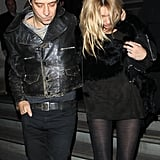 Kate Moss and Jamie Hince left a James Small party.