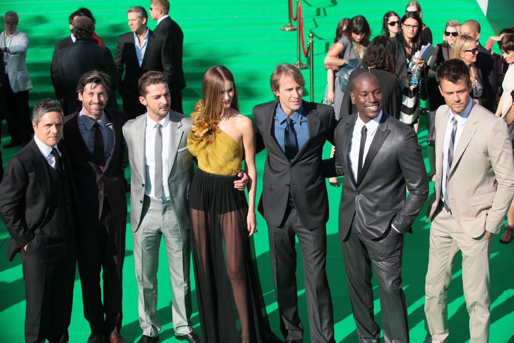 The men suited up for the Moscow Transformers: Dark of the Moon premiere.