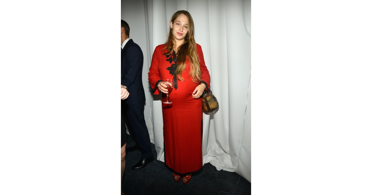 pregnant jemima kirke attended the studio in a schools