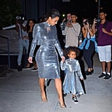 Kim Kardashian and North West Wearing Matching Vetements Outfits in NYC in 2016