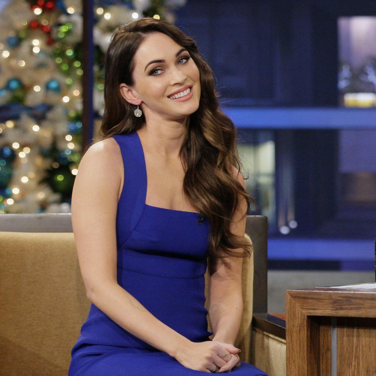 megan fox on the tonight show with jay leno | pictures | popsugar