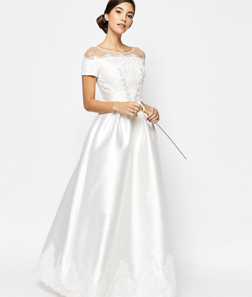 Chi Chi London Bridal Gown With Embroidered Cap Sleeves (£80 ...