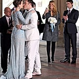 Gossip Girl actors Leighton Meester and Ed Westwick filmed a scene in NYC.