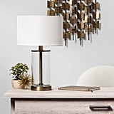 Fillable Accent with USB Table Lamp Brass