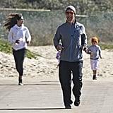 Matthew led his brood on the run.