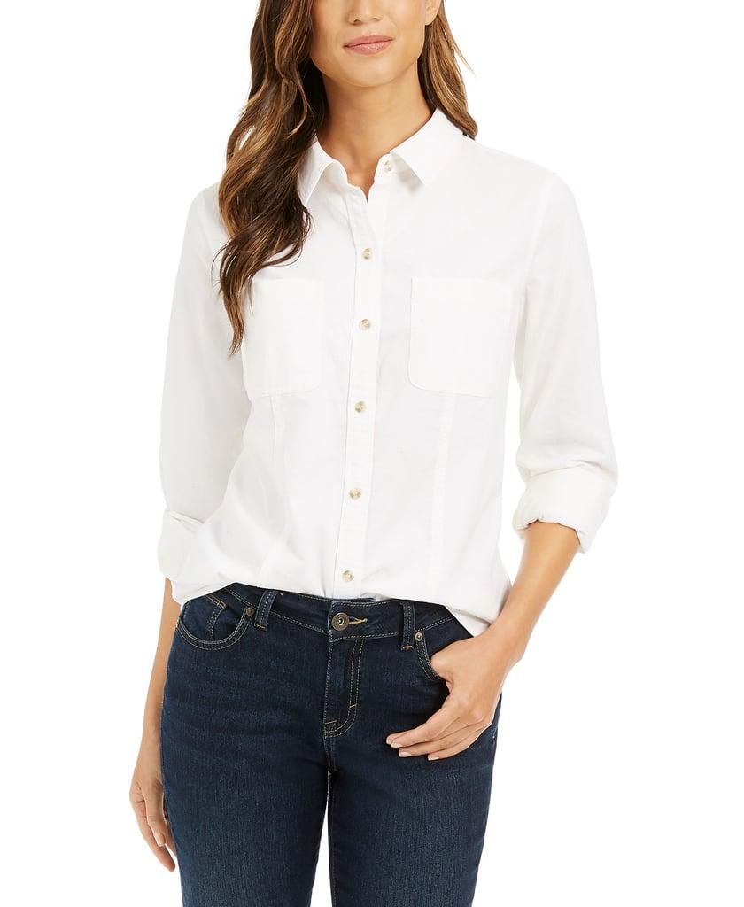 Charter Club Solid Corduroy Shirt