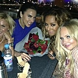 Ginger, Sporty, Scary, and Baby Spice celebrated their reunion together.  Source: Twitter user EmmaBunton
