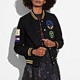 Coach Military Patch Varsity Jacket