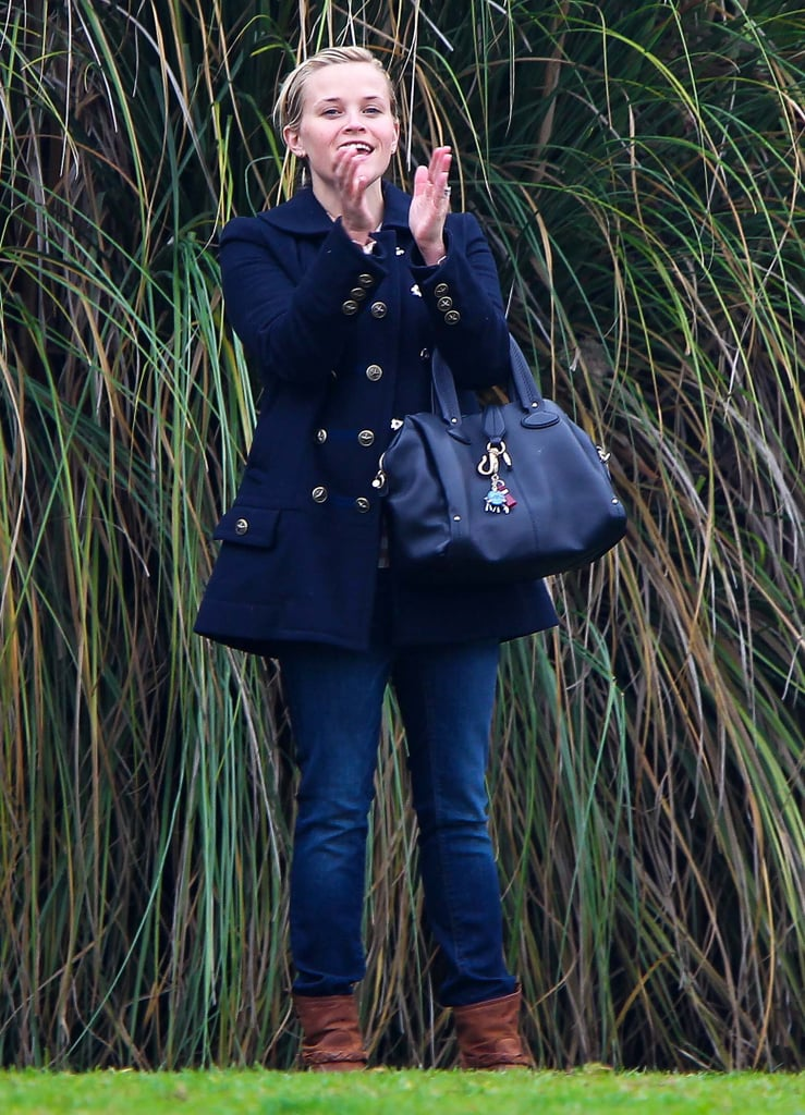 Reese Witherspoon cheered on her son Deacon Phillippe at his soccer game in December 2012 in LA.