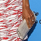 Newlywed Kerry Washington debuted her wedding ring at the LA event.