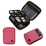 Double-Layer Travel Cable Organizer Electronics Accessories Case