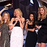Leslie Mann, Cameron Diaz, Nicki Minaj, and Kate Upton all objectified men while presenting the award for best male performance at the MTV Movie Awards.