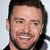 Justin Timberlake showed off his smile.