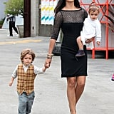 Camila Alves looked gorgeous in LA while taking her kids, Levi and Vida McConaughey, to church on Easter Sunday in April 2012.