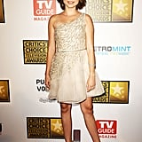 Sarah Hyland looked sweet in an embellished one-shouldered minidress.