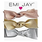 Emi Jay Metallic Leather Bow Hair Ties ($36)