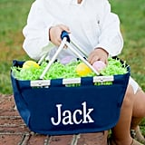 Personalized Navy Blue Mini Market Tote