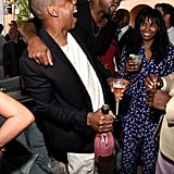 Kanye West and Jay Z were the life of the party at the Roc Nation and Three Six Zero brunch.